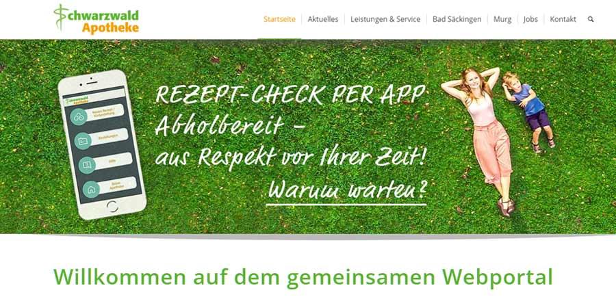 Website: Schwarzwald-Apotheke Bad Säckingen & Murg