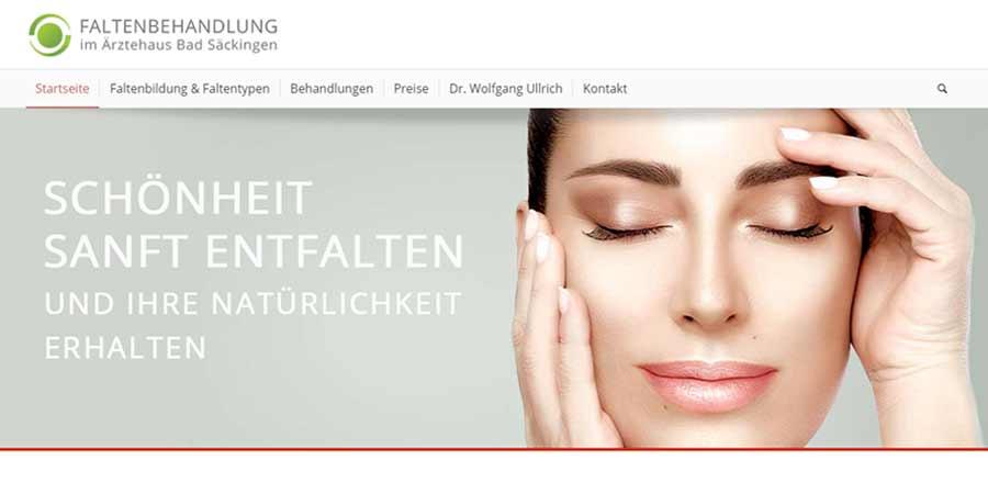 Website: Medizinische Faltenbehandlung Schweiz